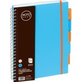 Bloknotas NOTOBOOK, Grand, A4, 100 lapų, linija, 80gsm, plastikinis viršelis, su spirale šone