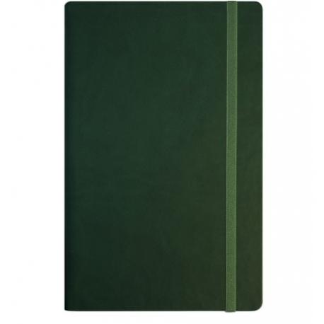 Užrašų knyga VIVELLA, Optima, A5, 100 lapų, balti tušti lapai, su skirtuku ir gumele, žalios spalvos