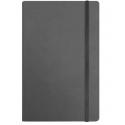 Užrašų knyga VIVELLA, Optima, A5, 100 lapų, balti tušti lapai, su skirtuku ir gumele, pilkos spalvos