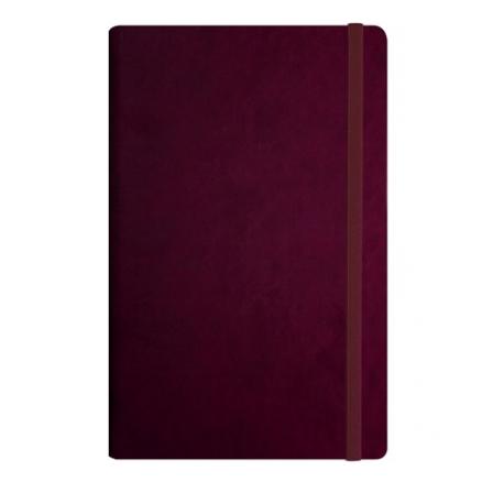 Užrašų knyga VIVELLA, Optima, A5, 100 lapų, balti tušti lapai, su skirtuku ir gumele, vyšninės spalvos