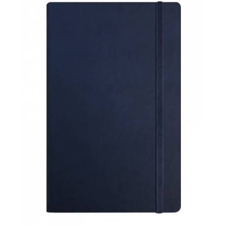 Užrašų knyga VIVELLA, Optima, A5, 100 lapų, balti tušti lapai, su skirtuku ir gumele, tamsiai mėlynos spalvos