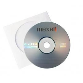 CD-R diskas popieriniame vokelyje, Maxell, 700MB, 80min.