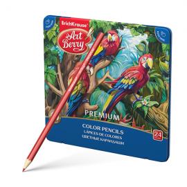 Spalvoti pieštukai PREMIUM, ErichKrause, 24 spalvos