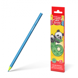 Spalvoti pieštukai su pieštukine, 24 spalvų, Art Berry