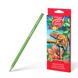 Spalvoti pieštukai ø3 mm., tribriauniai, 12 spalvų, Art Berry