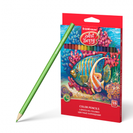 Spalvoti pieštukai ø3 mm., 18 spalvų, Art Berry