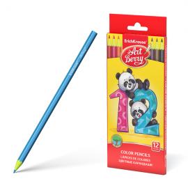 Plastikiniai spalvoti pieštukai ARTBERRY, ErichKrause, 12 sp.