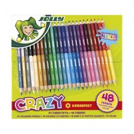 Spalvoti pieštukai SUPERSTICKS CRAZY, Jolly, 24 vnt. (48 sp.)