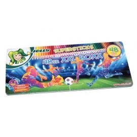 Spalvoti pieštukai FOOTBALL XXL, Jolly, 48 spalvos