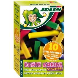 Kreida mokyklinė įvairių spalvų JOLLY color, 10 vnt.