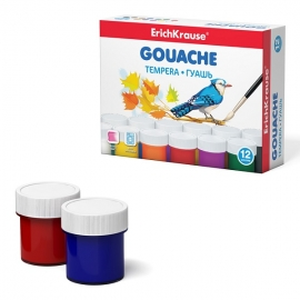 Guašas, ErichKrause, 12 spalvų po 20ml