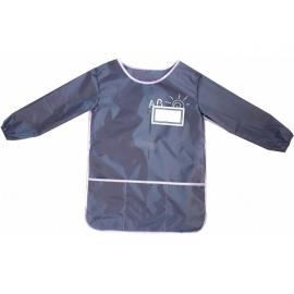 Vaikiška prijuostė su nugarėle ir rankovėmis, CoolForSchool, pilkos spalvos