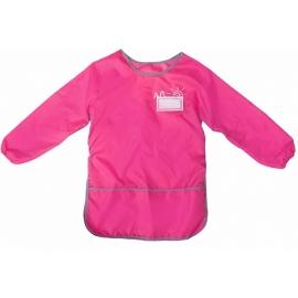 Vaikiška prijuostė su nugarėle ir rankovėmis, CoolForSchool, rožinės spalvos