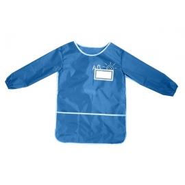 Vaikiška prijuostė su nugarėle ir rankovėmis, CoolForSchool, mėlynos spalvos