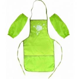 Vaikiška prijuostė su atskiromis rankovėmis, CoolForSchool, žalios spalvos