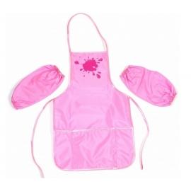 Vaikiška prijuostė su atskiromis rankovėmis, CoolForSchool, rožinės spalvos