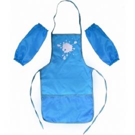 Vaikiška prijuostė su atskiromis rankovėmis, CoolForSchool, mėlynos spalvos