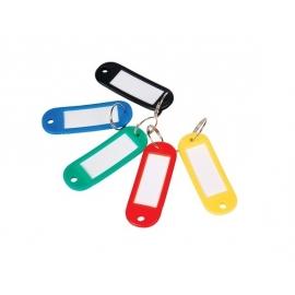 Raktų pakabukai, EconoMix, 60x22mm, plastikiniai, įvairių spalvų