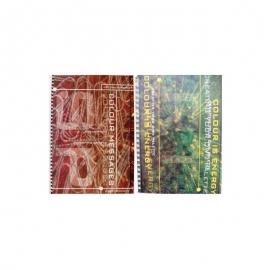Sąsiuvinis langeliais su spirale šone spalvotomis kraštinėmis COLOUR A4, 80 lapų