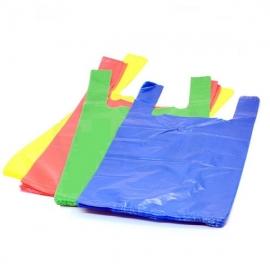 HDPE maišeliai su rankenėlėmis, 240x450mm, 15 mik., 100 vnt., įv.sp.