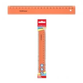Plastikinė liniuotė NEON, ErichKrause, 20cm ilgio, neoninė oranžinė sp.