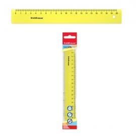 Plastikinė liniuotė NEON, ErichKrause, 20cm ilgio, neoninė geltona sp.