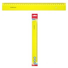Plastikinė liniuotė NEON, ErichKrause, 30cm ilgio, neoninė geltona sp.
