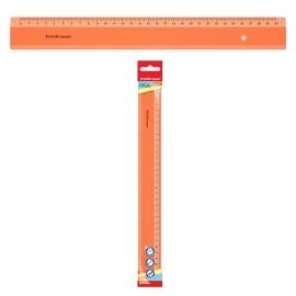 Plastikinė liniuotė NEON, ErichKrause, 30cm ilgio, neoninė oranžinė sp.