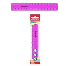 Plastikinė liniuotė NEON SOLID, ErichKrause, 15cm ilgio, neoninė rožinė sp., blisteryje