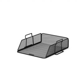 Lentynėlė dokumentams, ErichKrause, A4, horizontali, perforuoto metalo, juodos sp.