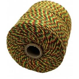 Notariniai siūlai, 350m, spalva – raudona/geltona/žalia