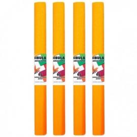 Krepinis popierius (šviesiai oranžinės spalvos 0,5x2m)