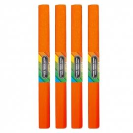 Krepinis popierius (oranžinės spalvos 0,5x2m)