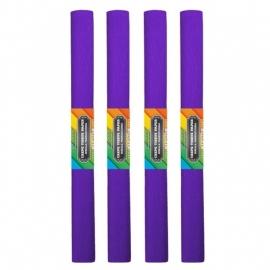 Krepinis popierius (tamsiai violetinės spalvos 0,5x2m)
