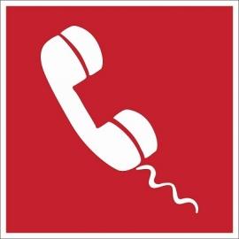 Lipnus ženklas GAISRO AVARINIS TELEFONAS, 140x140mm