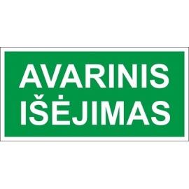Lipnus ženklas AVARINIO IŠĖJIMO VIETA, 75x150mm