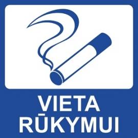 Lipnus ženklas VIETA RŪKYMUI, 140x140mm