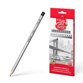 Grafitinių pieštukų rinkinys ARTBERRY, ErichKrause, kartoninėje dėžutėje, 5H-5B, 12 pieštukų