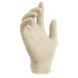 Vienkartinės lateksinės pirštinės MUMU, S dydis, baltos sp., be pudros, 100 vnt.