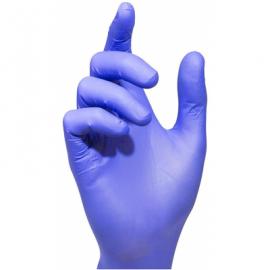 Vienkartinės nitrilinės pirštinės MERCATOR, L dydis, mėlynos sp., be pudros, 100 vnt.