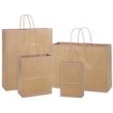Popierinis maišelis su rankenėlėmis, 180x80x225mm, 90gsm, 3L, rudos sp.