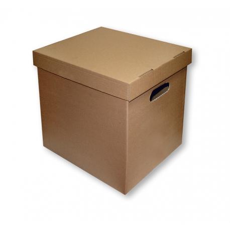 Archyvinė dėžė. Kartoninė. Su dangčiu. 360x290x350 mm.