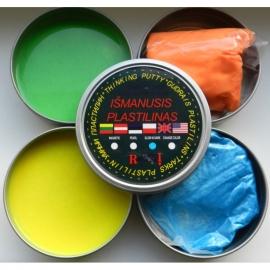 """Išmanusis plastilinas """"Glow in dark"""", 80 g, įvairių spalvų"""