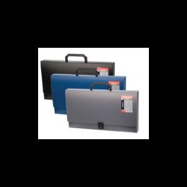 Rankinė dokumentams Megapolis. Plastikinė, 372x255, 1 skyrius, su rankena, juodos spalvos, Erich Krause