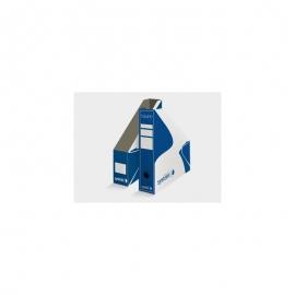 Archyvinis brošiūrų stovas 320x250x80 mm., mėlynos/baltos spalvos, VAUPE