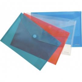 Vokas su spaustuku A4, plastikinis, skaidrus, Erich Krause