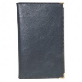 Dėklas vizitinėms kortelėms 96 vnt., su metaliniais kampučiais, juodos spalvos, Erich Krause