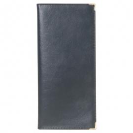 Dėklas vizitinėms kortelėms 128 vnt., su metaliniais kampučiais, juodos spalvos, Erich Krause