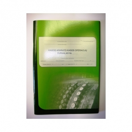 Kasos operacijų žurnalas A4, vertikalus, 73 lapai, 3-jų dalių viršelis (su papildomu atvartu)
