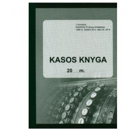 Kasos knyga A5, vertikali pildoma kiekvieną dieną 31x2 lapų, savekopijuojanti